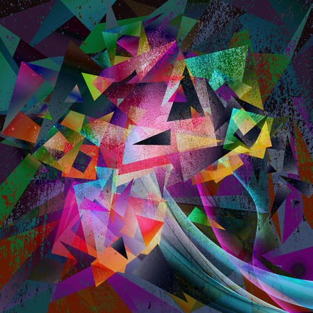 Abstract magic colourful splashes background