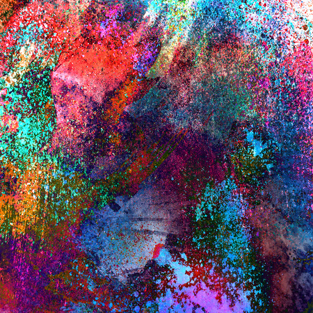 Abstract magic colorful splashes background