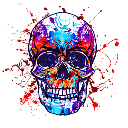 Evil skull illustration art Stock Photo