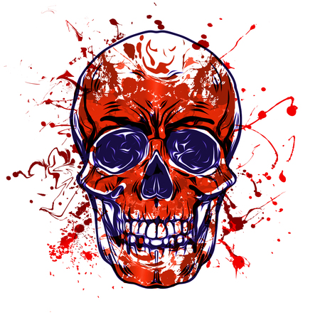 Evil skull illustration art Фото со стока