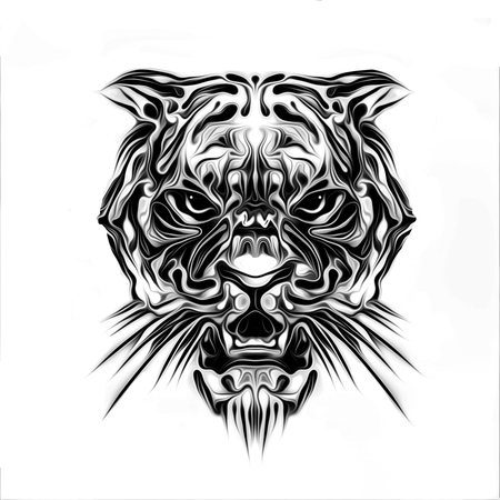 wild tiger tatoo - Illustration