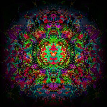 futuristic colorful background - Illustration