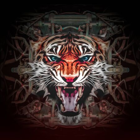 Abstract tiger pattern for graphic design