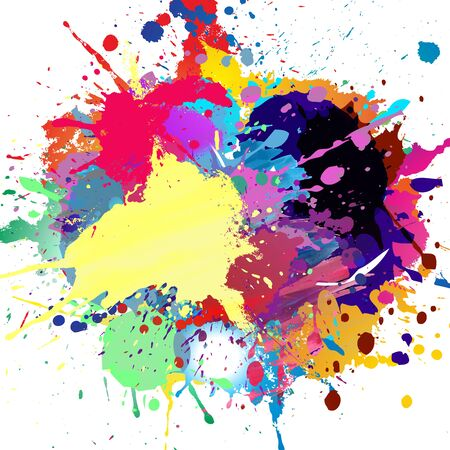 abstract background with bright colorful splashes