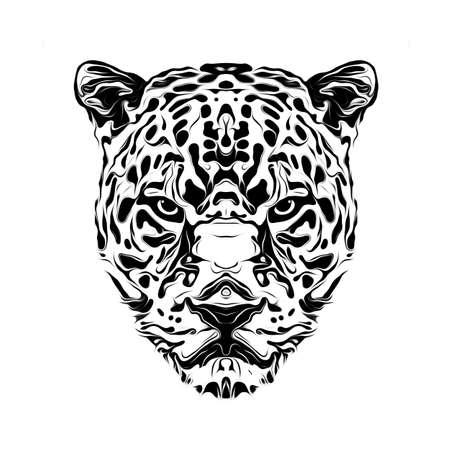 white tiger head art tattoo