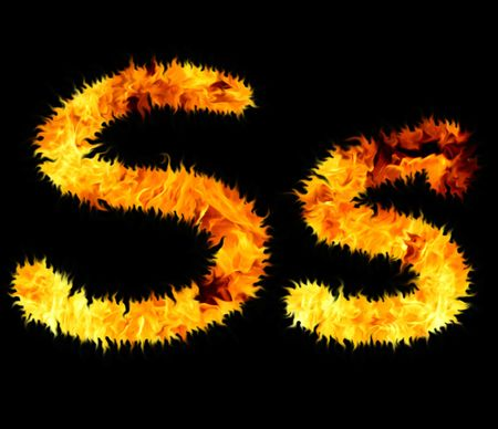 letter alphabet pictures: flame symbol s