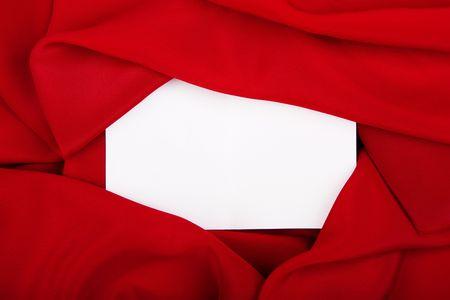 silk textile border round white paper Stock Photo - 5578482