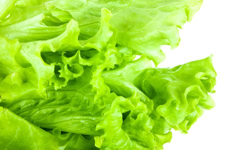 Fresh salad isolated on a white background