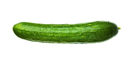 fresh cucumber isolated on a white background  Stock Photo