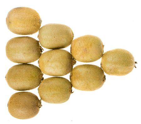 Kiwi fruits isolated on white background Stock Photo