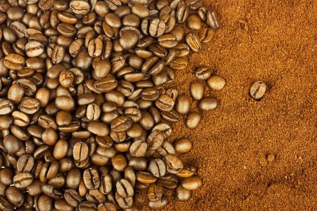 Coffee grains, can be use as background