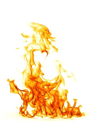 flames background: Fire flame isolated on white backgound Stock Photo