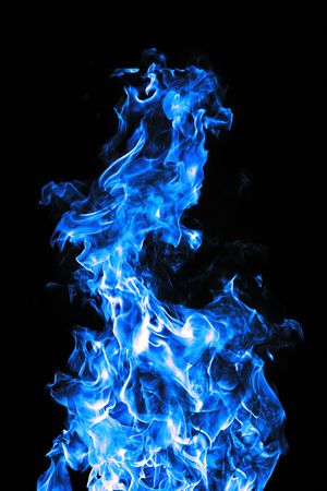 perfect blue fire on black background