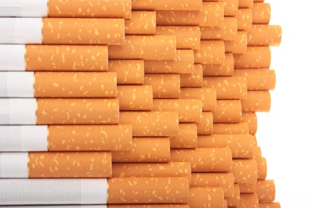 quiting: cigarettes isolated on white background