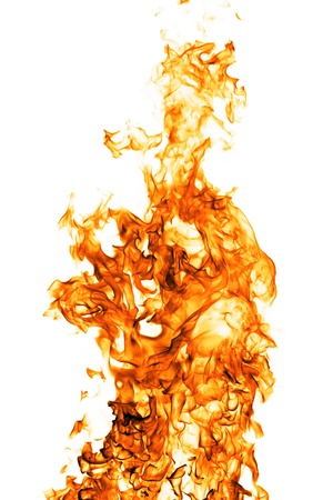 Fire flame isolated on white backgound Stock Photo