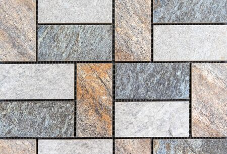 Porcelain stoneware rectangles. Background and texture of porcelain tiles.