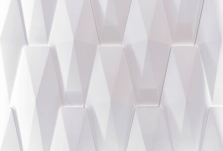 White wall panel with 3D effect. Volumetric white texture.