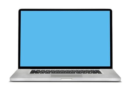 Laptop aislados en blanco Foto de archivo