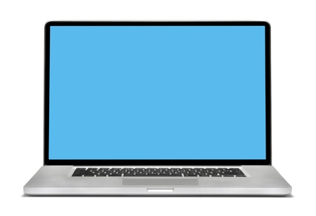 Laptop isolated on white