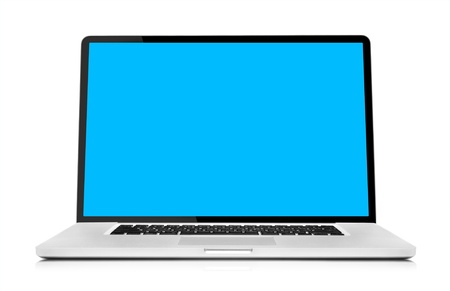 desktop computers: Laptop isolated on white