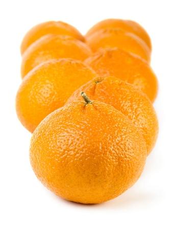 Tangerines isolated on white photo