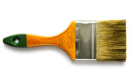 Paint brush isolated on white Reklamní fotografie - 19367497