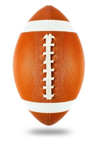 미국 축구 공을 흰색으로 격리 스톡 콘텐츠