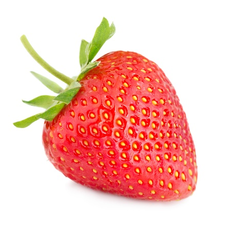bacca: Strawberry isolated on white