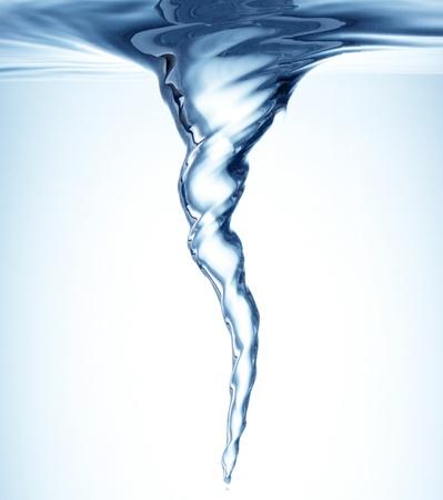 Bajo el agua Whirlpool en azul Foto de archivo