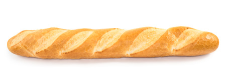 life loaf: French baguette isolated on white  Stock Photo