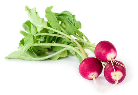 Three fresh radishes isolated on white background Reklamní fotografie - 23574853