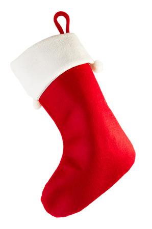 Christmas stocking isolated on white background Stok Fotoğraf