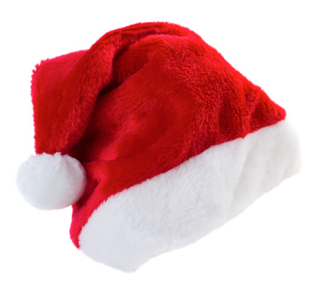 isilated: Santa hat isilated on white background Stock Photo