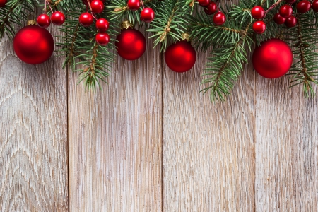 Christmas border on wooden background 스톡 콘텐츠