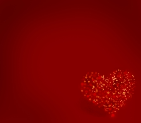 Valentine heart background with copy space photo