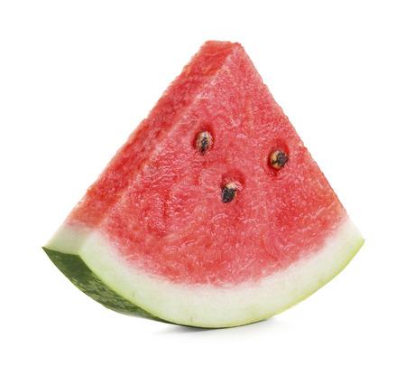 Watermeloen slice geïsoleerd op een witte achtergrond