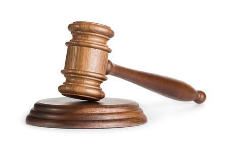 El juez martillo aisladas sobre fondo blanco