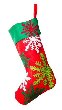 Christmas stocking isolated on white background Stock Photo