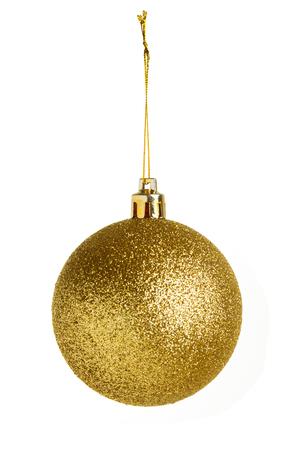 골드 크리스마스 공 흰색 배경에 고립