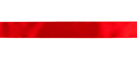 Red ribbon isolated over white background Stock Photo