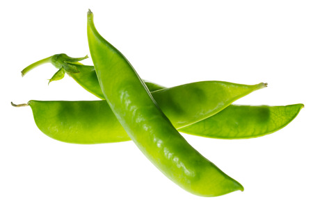 jhy: Fresh snow peas isolated on white background