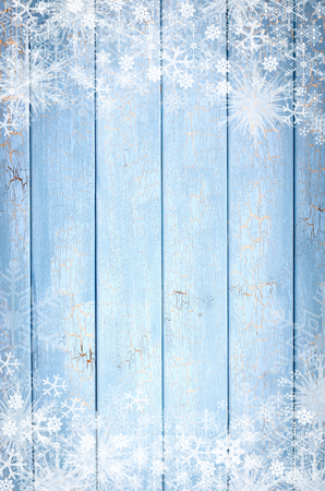 Texture of iced Wood blue panel for background vertical Stock Photo