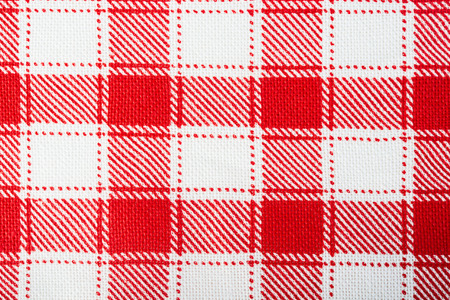 Seamless retro white-red square tablecloth