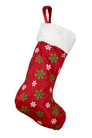 Christmas stocking isolated on white background Stock Photo