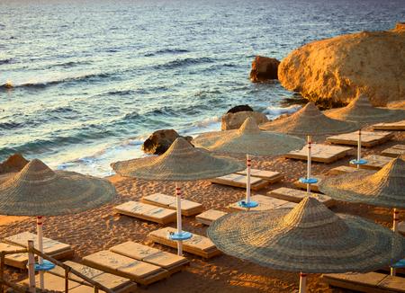 Beautiful beach at sunrise, Sharm El Sheih, Egypt
