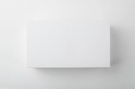 Blank white box top view with shadow