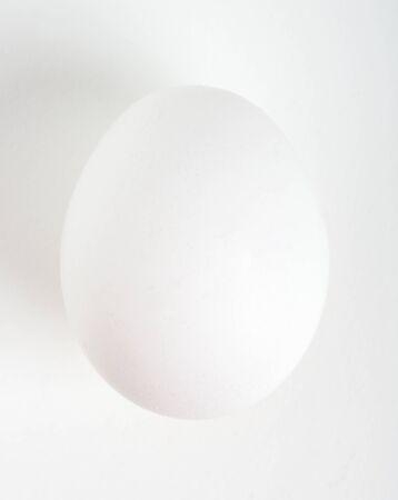 Raw fresh chiken egg on white background