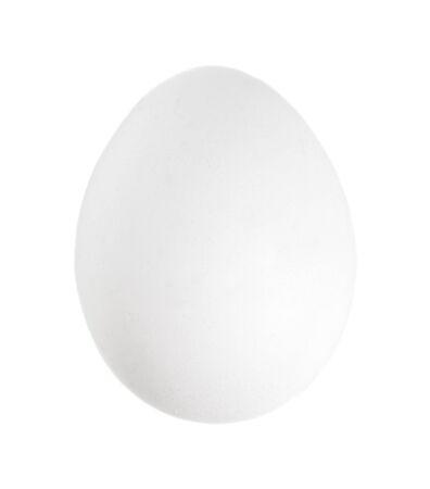 Raw fresh chiken egg isolated on white background
