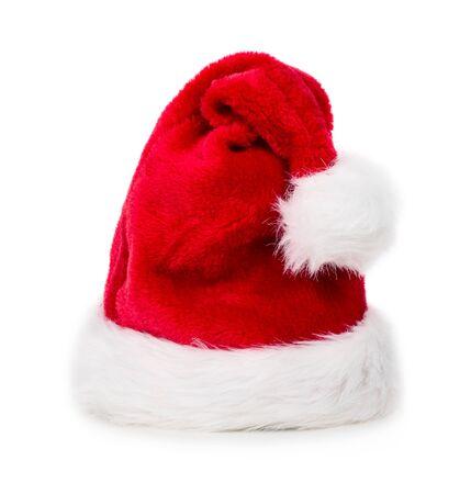Bonnet de Noël rouge isolé sur fond blanc