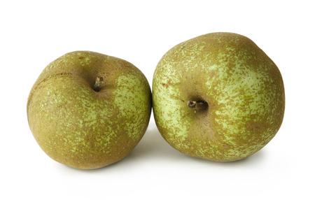 Extraordinaire ! 33068086-nature-morte-avec-deux-pommes-sur-fond-blanc